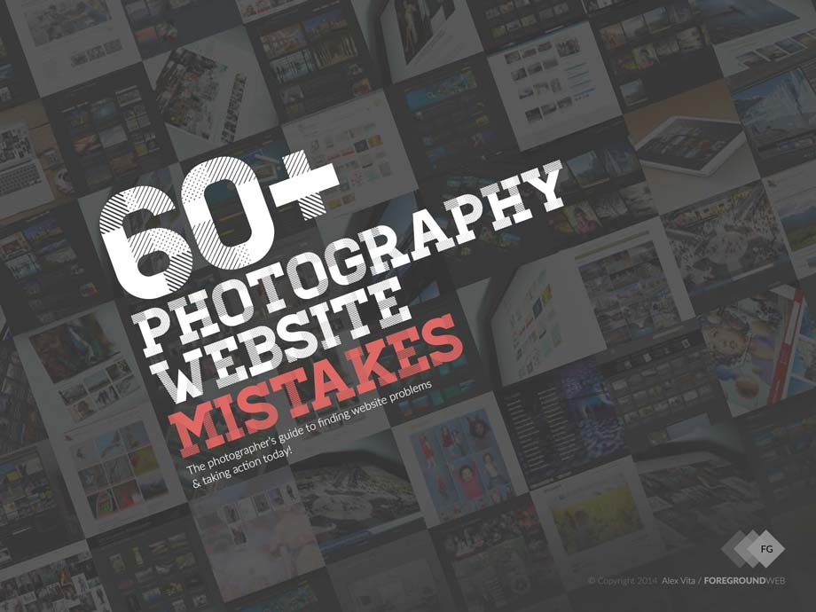 60+ Photography Website Mistakes ebook front cover