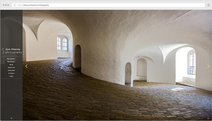 Jon Harris Photography site screenshot