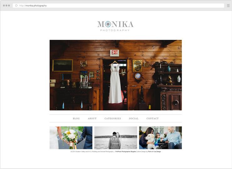 Monika Photography site screenshot