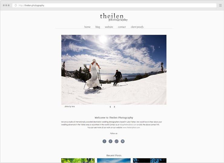 theilen Photography site screenshot