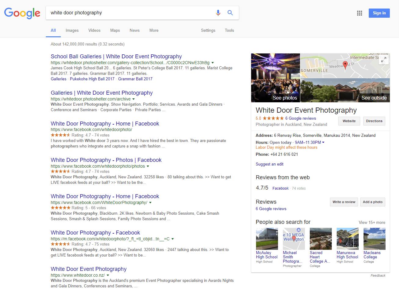 Google My Business photographer example 1