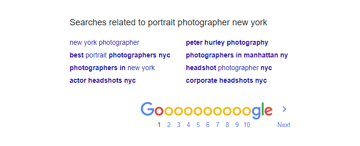 Google searches related to portrait photographer New York