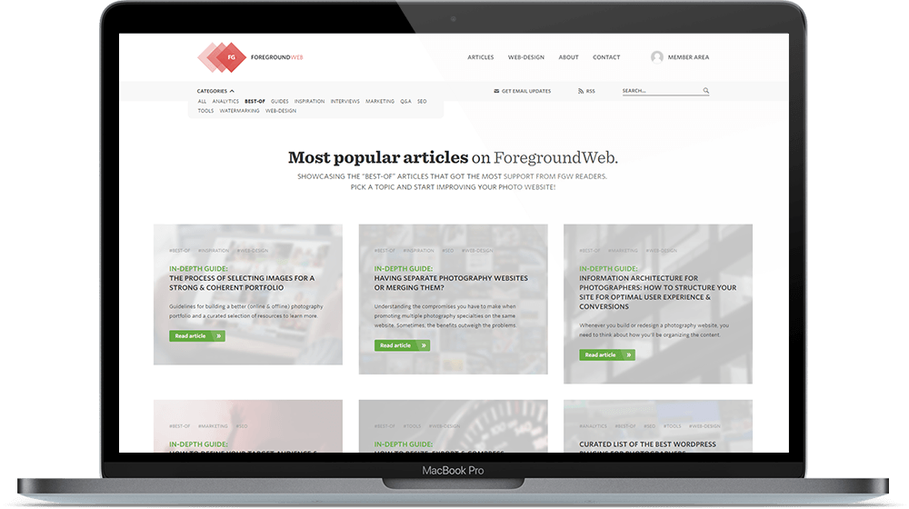 Preview of the most popular ForegroundWeb articles pages