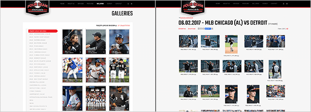 Matching PhotoShelter classic template (Four Seam Images)