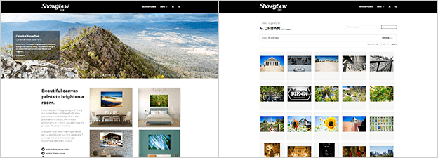 Showglow-Pix PhotoShelter template matching WordPress