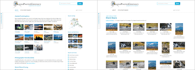 WordPress - PhotoShelter integration example (AlaskaPhotoGraphics)