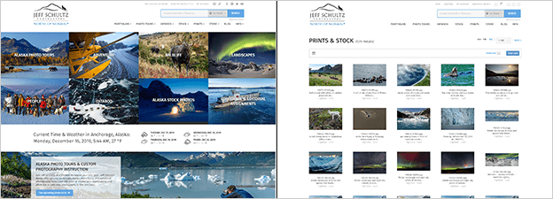 WP + PhotoShelter integration preview (Jeff Schultz Photography)