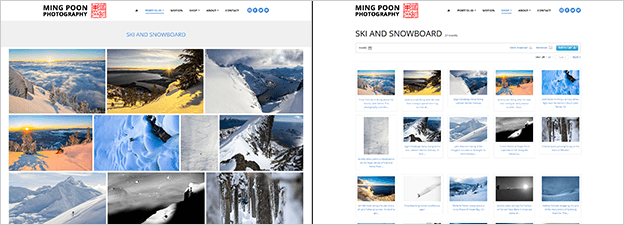 Matching WP theme and PhotoShelter template example (Ming Poon Photography)