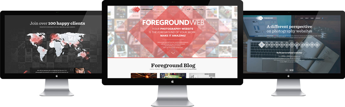 ForegroundWeb launch screenshots