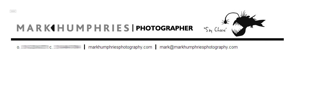 Photography email signature  - HTML signature, wide