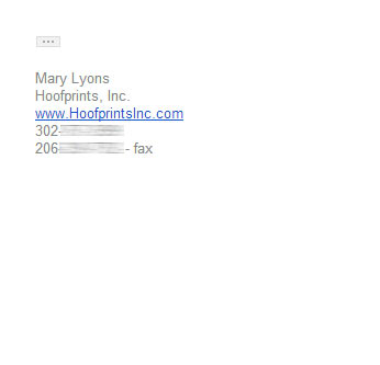 Photography email signature example - Simple signature
