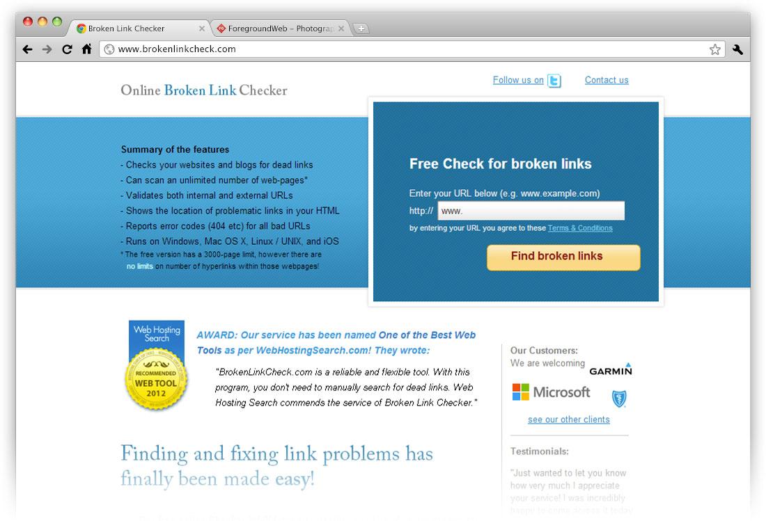 Visit www.brokenlinkcheck.com