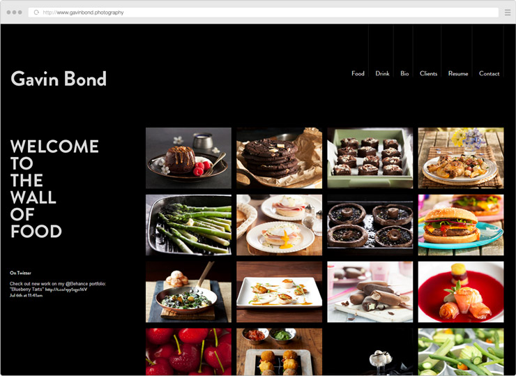 Gavin Bond Photography site screenshot