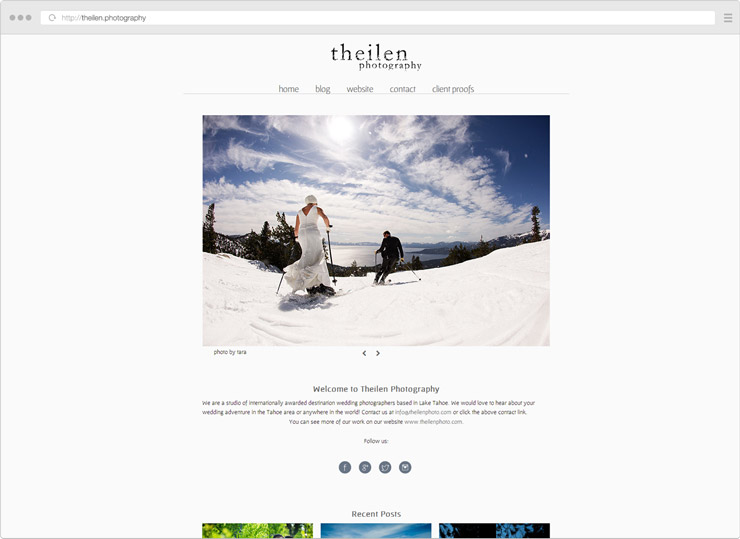 theilen Photography site screenshot