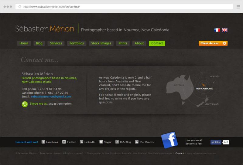 Sebastien Merion contact page