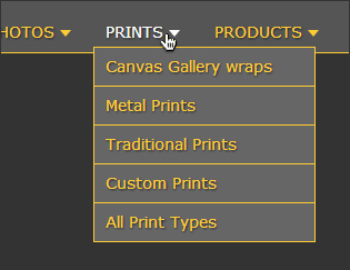 photography-menu-dropdown-example