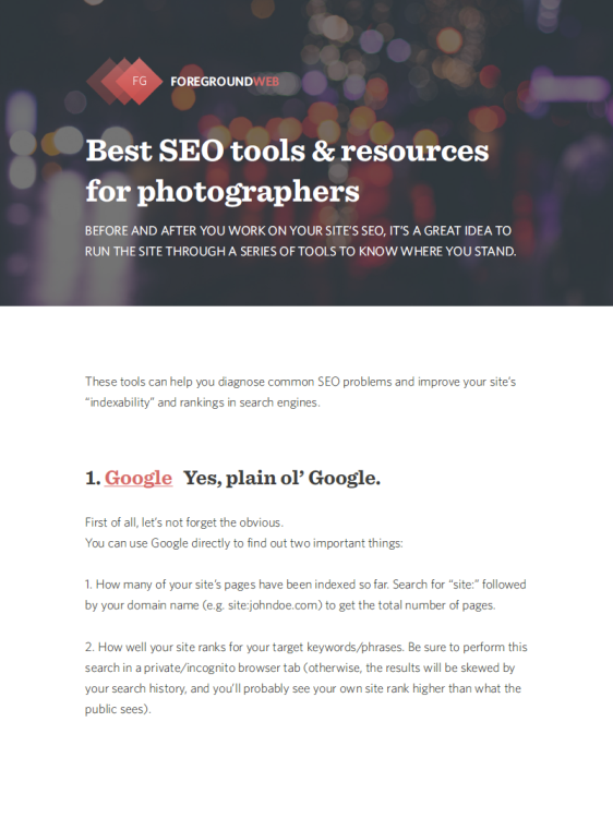 Best SEO tools and resources (PDF) cover page