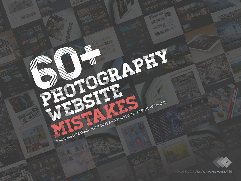 60+ Photography website mistakes (PDF) cover page