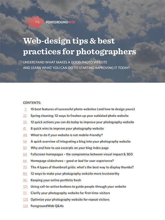 Web-design tips and best practices for photographers (PDF) cover page