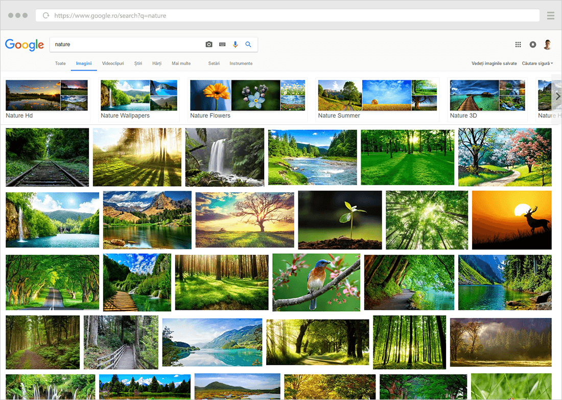 justified thumbnail grid example 06 Google images