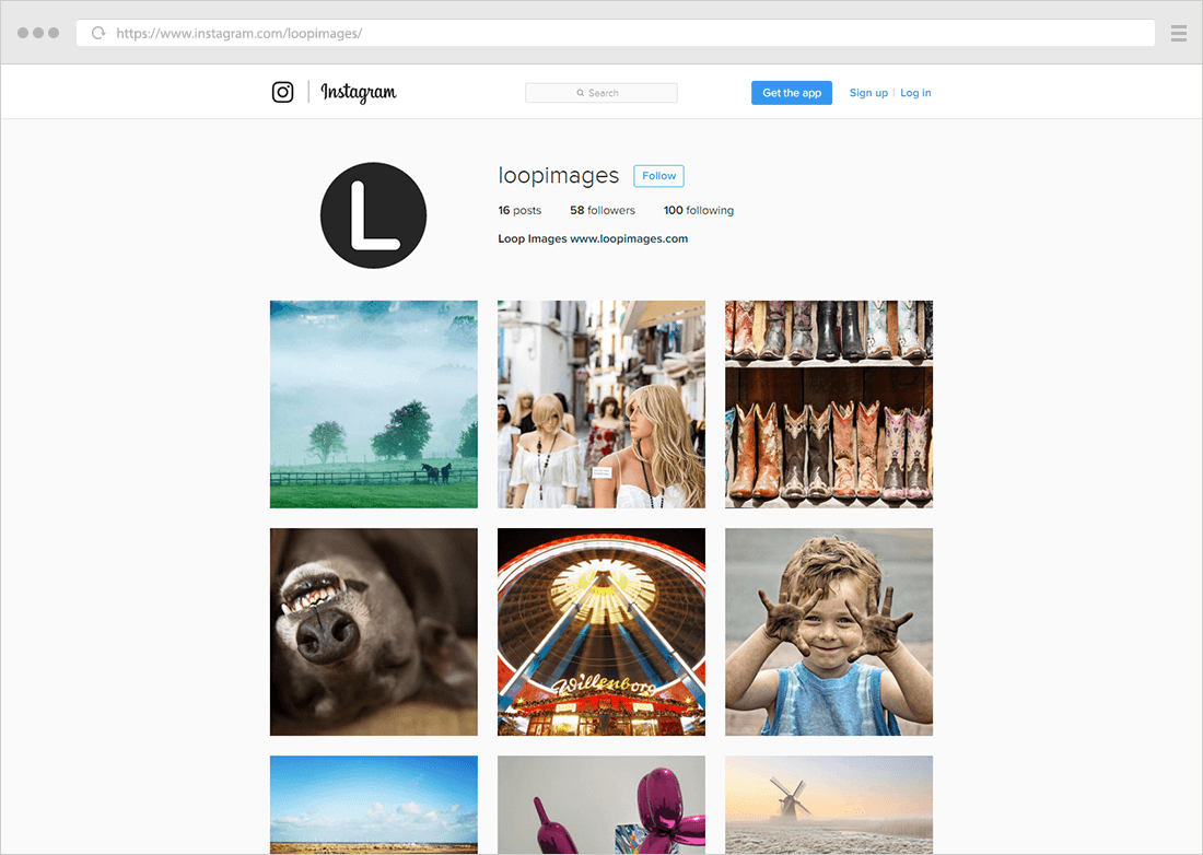 square thumbs instagram example