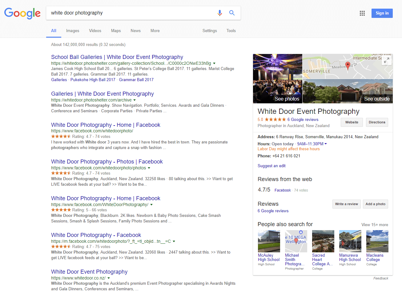 Google My Business photographer example 1