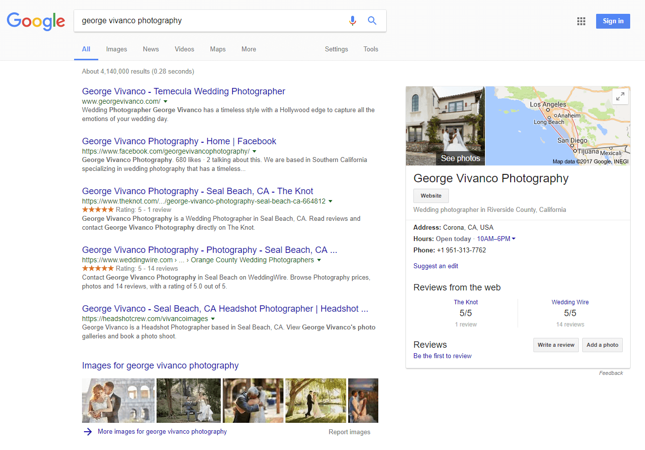 Google My Business photographer example 2