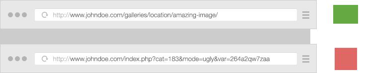 Pretty vs ugly photography website slugs