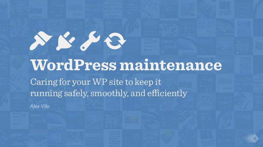 WordPress maintenance course for photographers