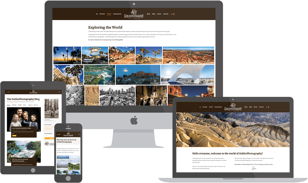 Gubler Photography website preview