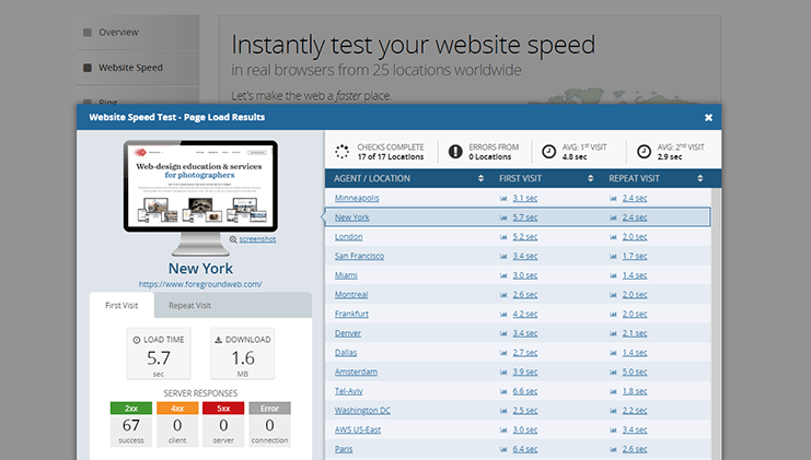 Website spped test tool from dotcom-tools