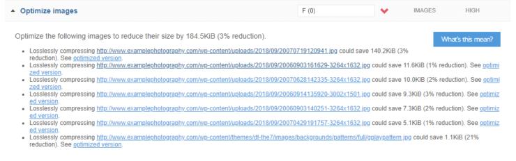 GTmetrix recommendation - optimize images