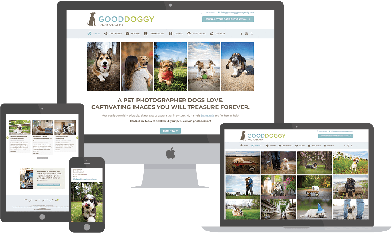 Good Doggy Photography website preview
