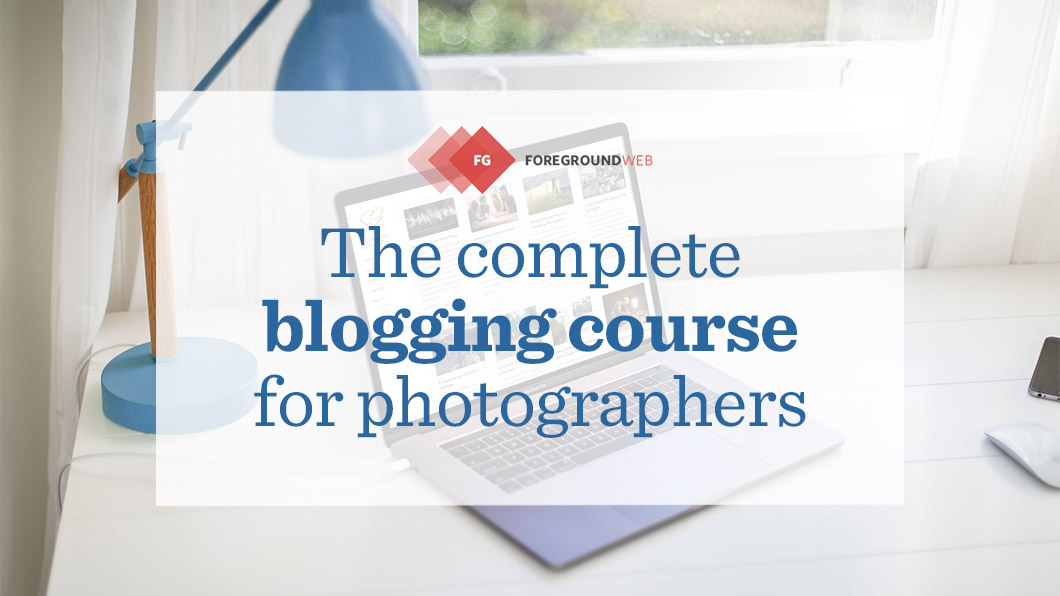 Blogging course for photographers
