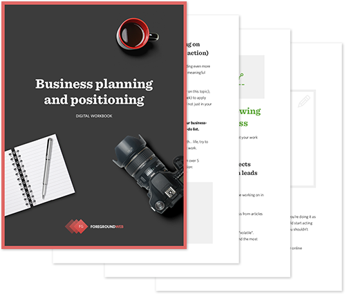 Business planning and positioning - Digital workbook cover