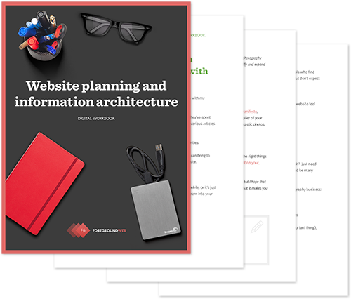 Website planning and information architecture - Digital workbook cover