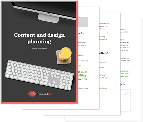Content and design planning - Digital workbook cover