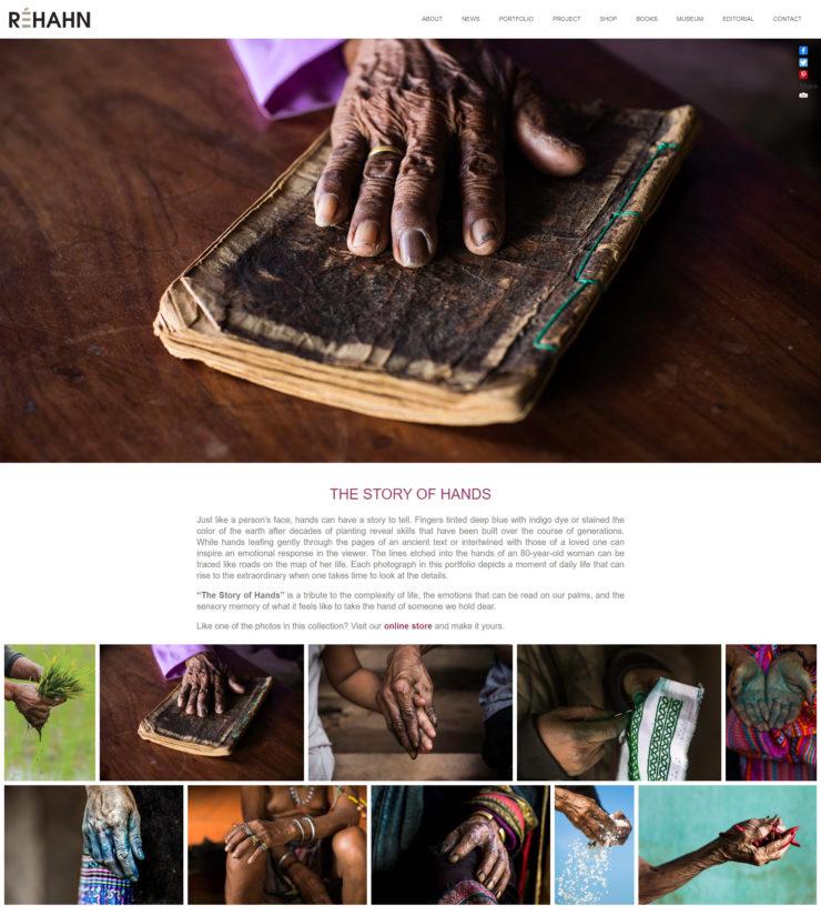 rehahn photography - site screenshot showing gallery description