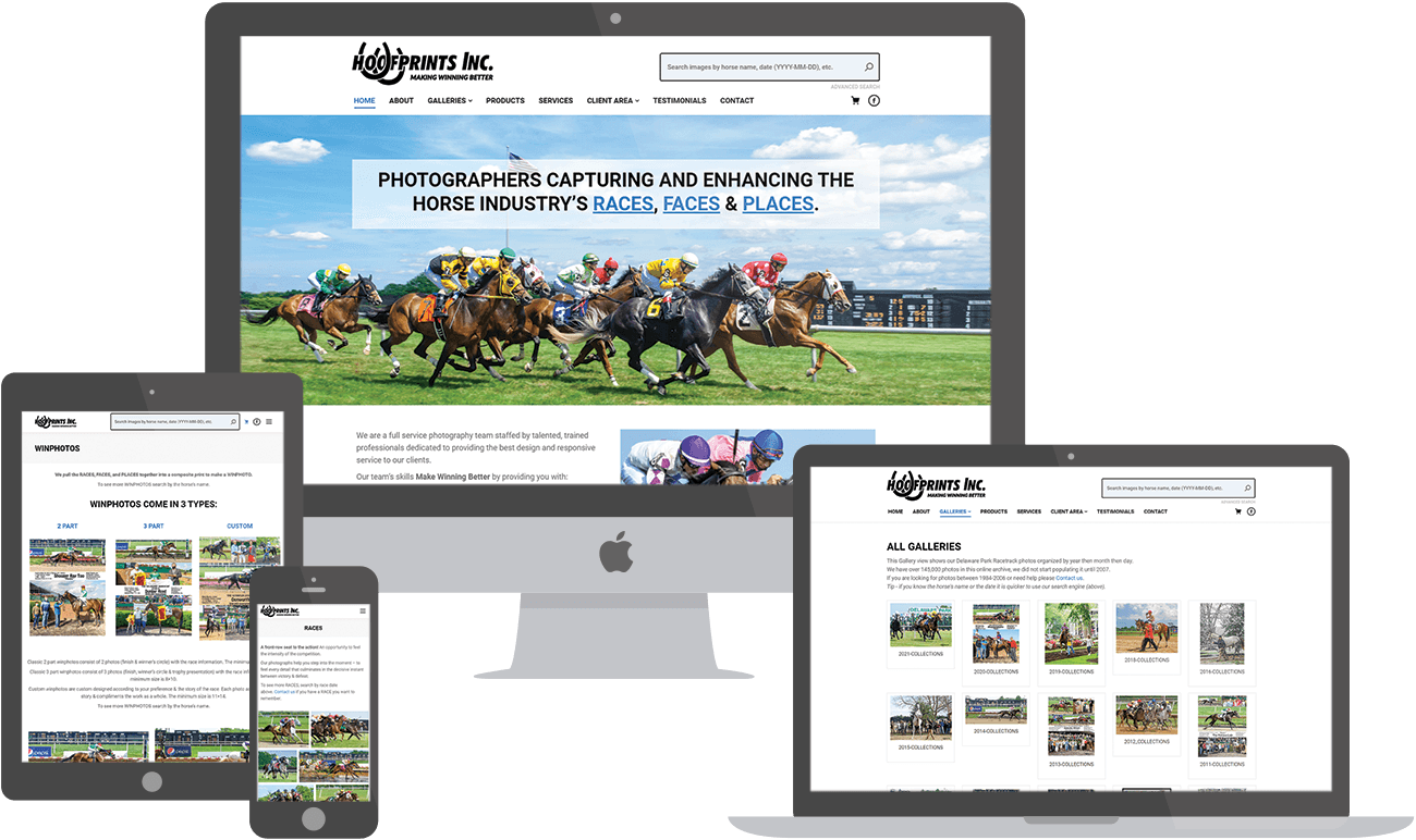 Hoofprints website preview